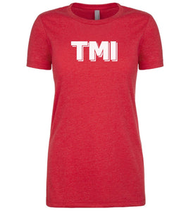 red TMI womens crewneck t shirt