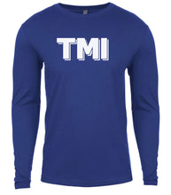 Load image into Gallery viewer, blue tmi mens long sleeve shirt