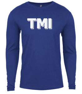 blue tmi mens long sleeve shirt