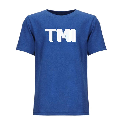 blue TMI youth crewneck t shirt for boys