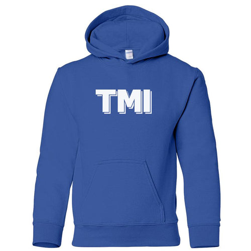 blue TMI youth hooded sweatshirt for boys