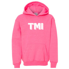 Load image into Gallery viewer, pink TMI youth hooded sweatshirts for girls