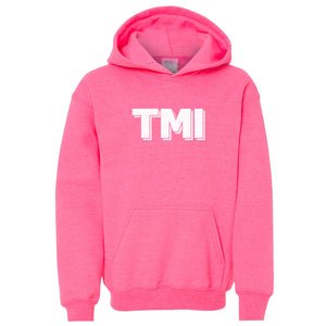 pink TMI youth hooded sweatshirts for girls