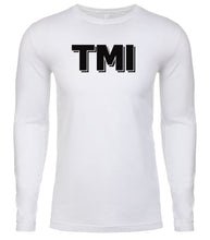 Load image into Gallery viewer, white tmi mens long sleeve shirt