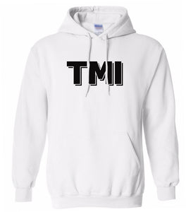 white tmi mens pullover hoodie