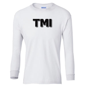 white TMI youth long sleeve t shirt for girls