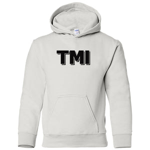 white TMI youth hooded sweatshirts for girls