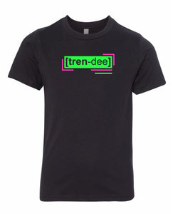 florescent green trendy neon streetwear t shirt for kids