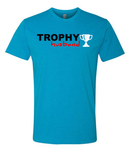 turquoise trophy husband t-shirt