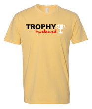Load image into Gallery viewer, yellow trophy husband t-shirt