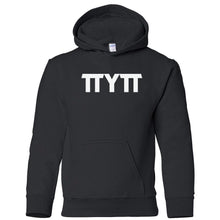 Load image into Gallery viewer, black TTYTT youth hooded sweatshirts for girls