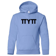 Load image into Gallery viewer, blue TTYTT youth hooded sweatshirts for girls