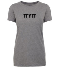 Load image into Gallery viewer, grey TTYTT crewneck t shirt for women