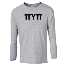 Load image into Gallery viewer, grey TTYTT youth long sleeve t shirt for girls