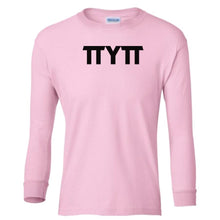 Load image into Gallery viewer, pink TTYTT youth long sleeve t shirt for girls