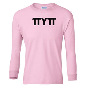 pink TTYTT youth long sleeve t shirt for girls