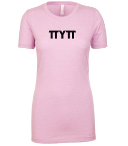 pink TTYTT crewneck t shirt for women