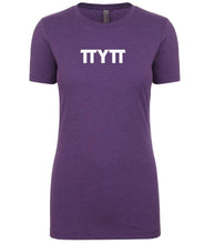 Load image into Gallery viewer, purple TTYTT crewneck t shirt for women