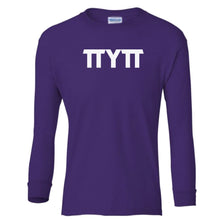 Load image into Gallery viewer, purple TTYTT youth long sleeve t shirt for girls