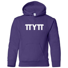 Load image into Gallery viewer, purple TTYTT youth hooded sweatshirts for girls