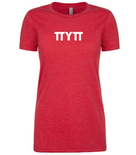 Load image into Gallery viewer, red TTYTT crewneck t shirt for women