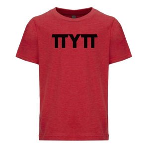 red TTYTT youth crewneck t shirt for boys