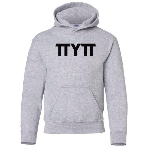 grey TTYTT youth hooded sweatshirt for boys