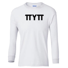 Load image into Gallery viewer, white TTYTT youth long sleeve t shirt for girls