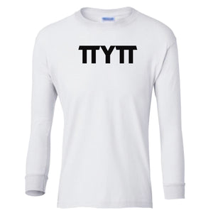 white TTYTT youth long sleeve t shirt for girls