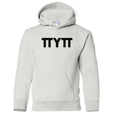 Load image into Gallery viewer, white TTYTT youth hooded sweatshirts for girls