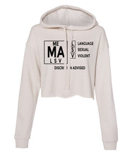 Load image into Gallery viewer, dust TVMA Cropped hoodie