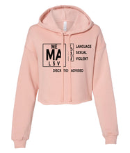 Load image into Gallery viewer, peach TVMA Cropped hoodie
