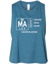 Load image into Gallery viewer, teal mature audiences women's cropped tank top