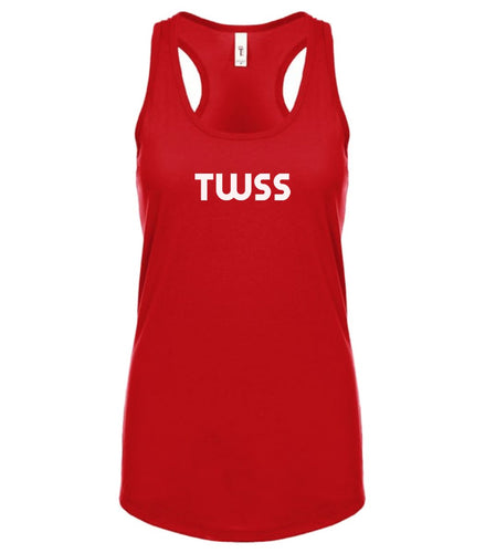 red TWSS racerback tank top for women