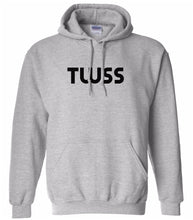 Load image into Gallery viewer, grey TWSS hooded sweatshirt for women