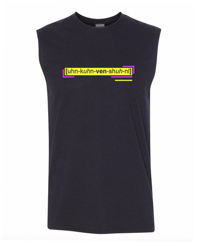 florescent yellow unconventional men's sleeveless tee tank top
