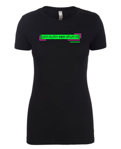 florescent green unconventional neon streetwear t shirt for women