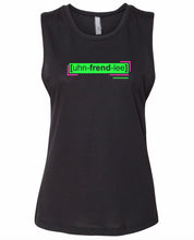 Load image into Gallery viewer, florescent green unfriendly neon streetwear tank top for women