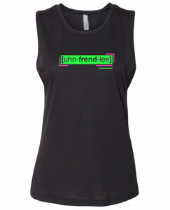florescent green unfriendly neon streetwear tank top for women