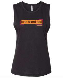 florescent orange unfriendly neon streetwear tank top for women