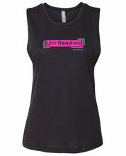 Load image into Gallery viewer, florescent pink unfriendly neon streetwear tank top for women