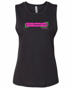 florescent pink unfriendly neon streetwear tank top for women