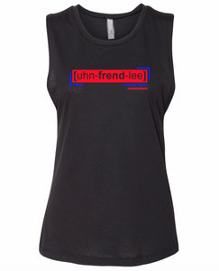 florescent red unfriendly neon streetwear tank top for women