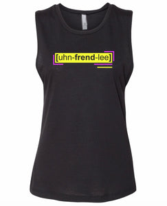 florescent yellow unfriendly neon streetwear tank top for women