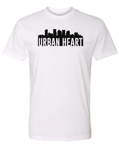 white Urban Heart t-shirt