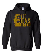Load image into Gallery viewer, black Vegas born and bred hoodie