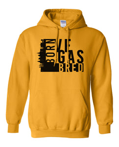 gold Vegas born and bred hoodie