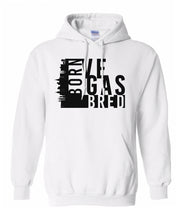 Load image into Gallery viewer, white Vegas born and bred hoodie