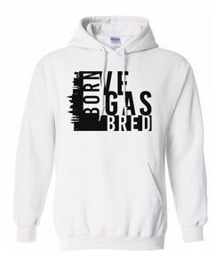 white Vegas born and bred hoodie