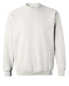 white crewneck sweatshirt